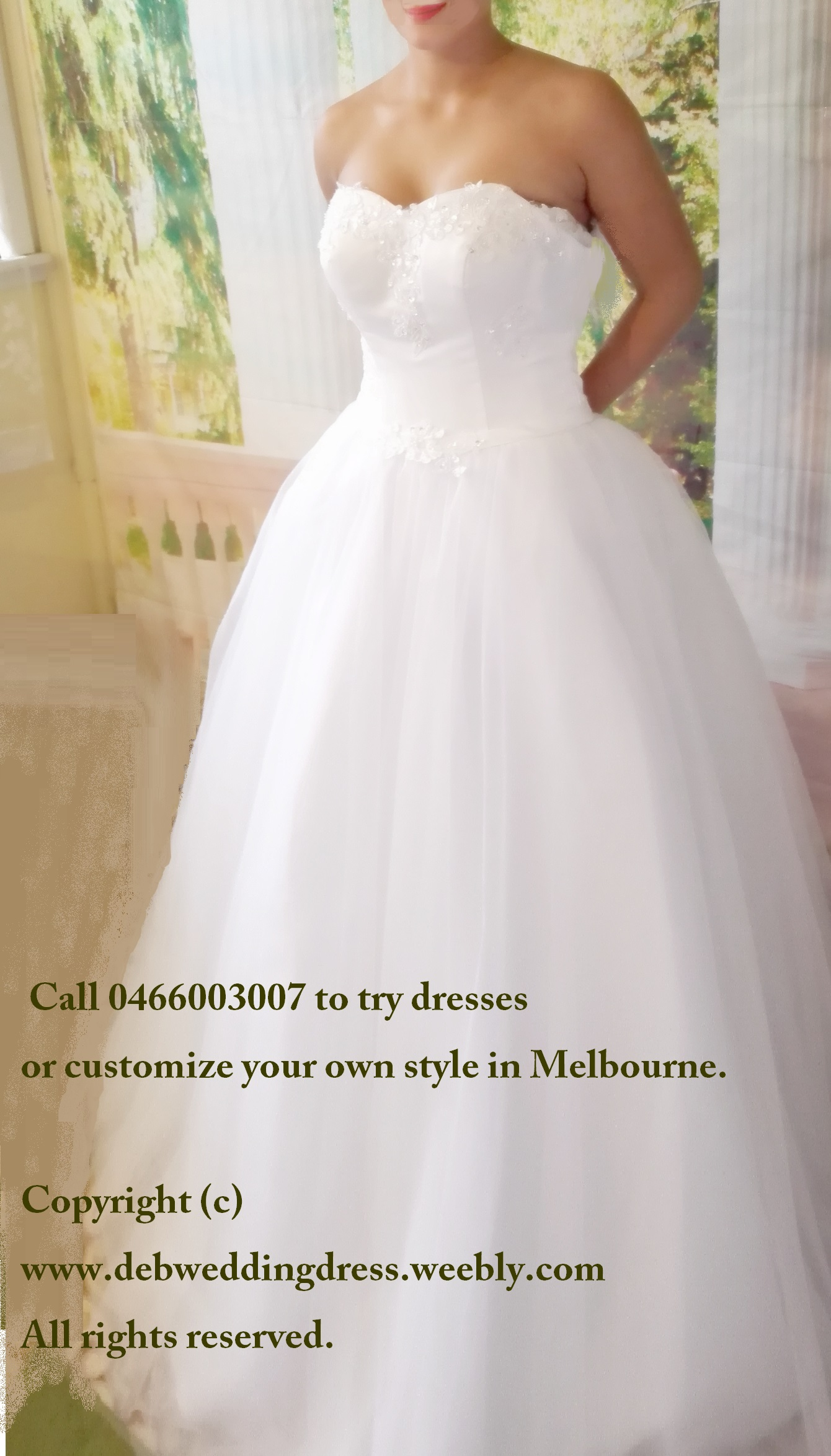 Aurora - cheap deb dress/wedding gown (rent or buy in local store)