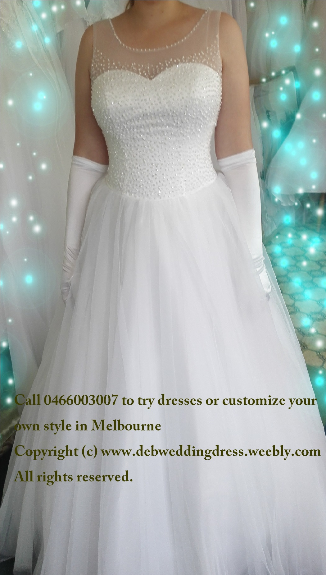 Ariel- Affordable deb dress/wedding gown( hire or buy online, in store)